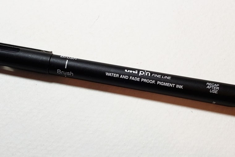 Pen Review: Uni Pin Brush Pen