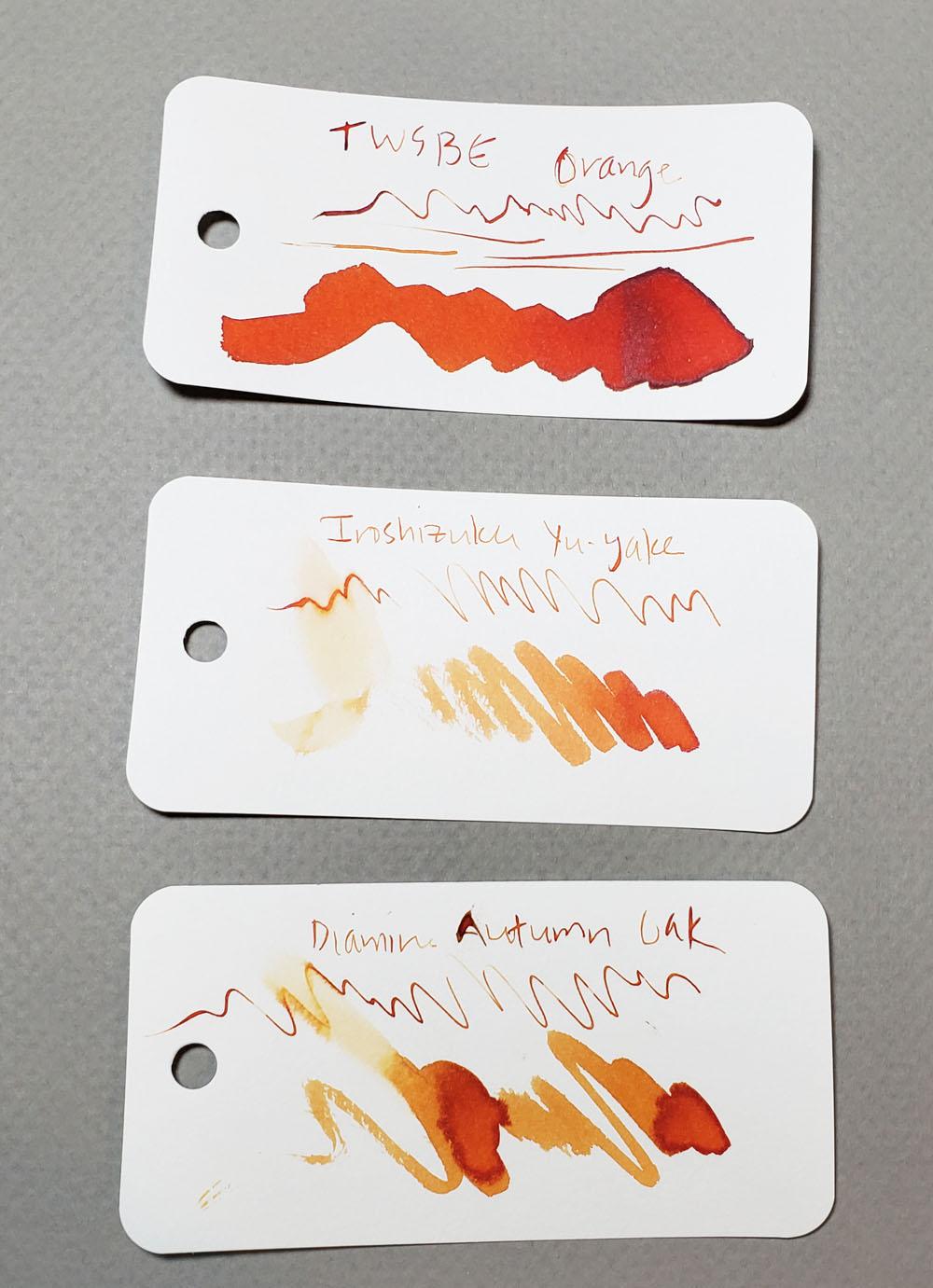TWSBI Orange comparison