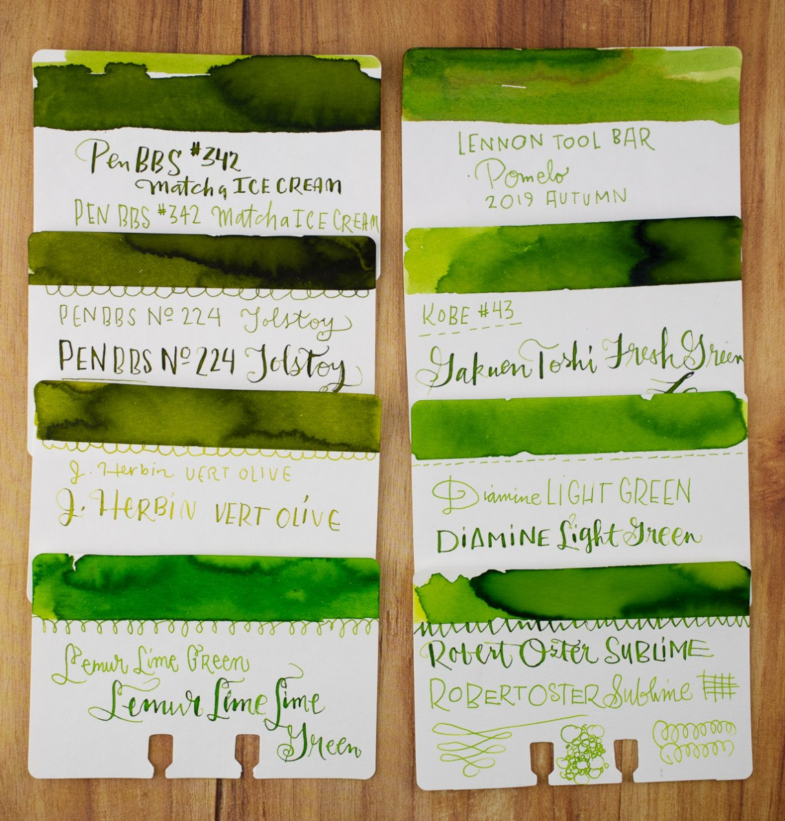 Lime ink comparison