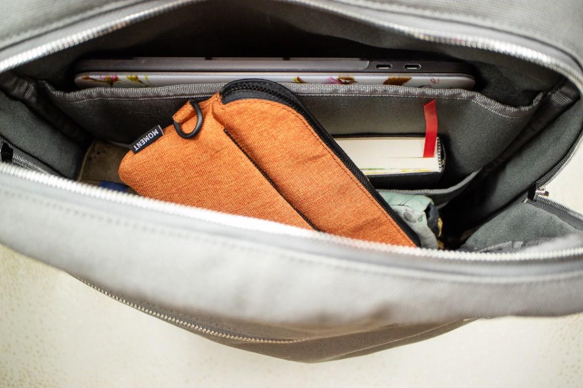 Baron Fig Venture Slimline Backpack open bag