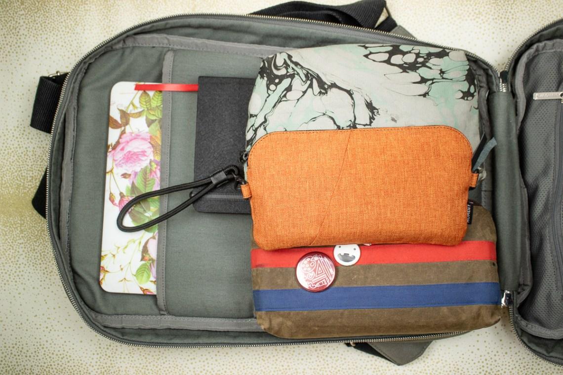 Baron Fig Venture Slimline Backpack inside laptop pockets