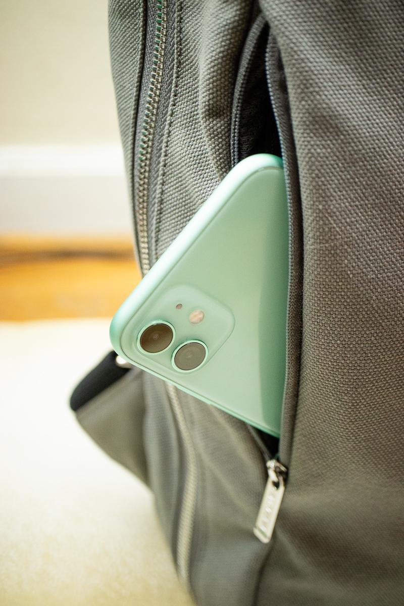 Baron Fig Venture Slimline Backpack slit pocket