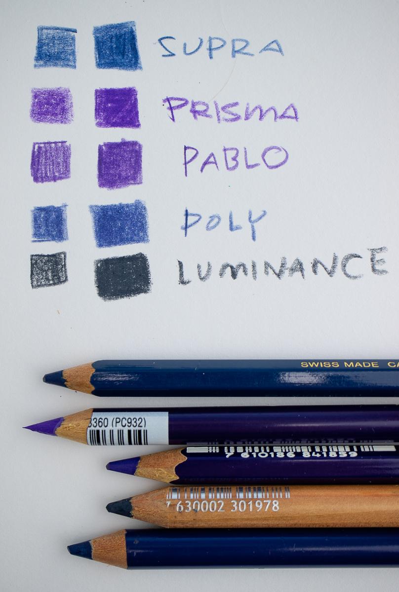Colored Pencil comparison