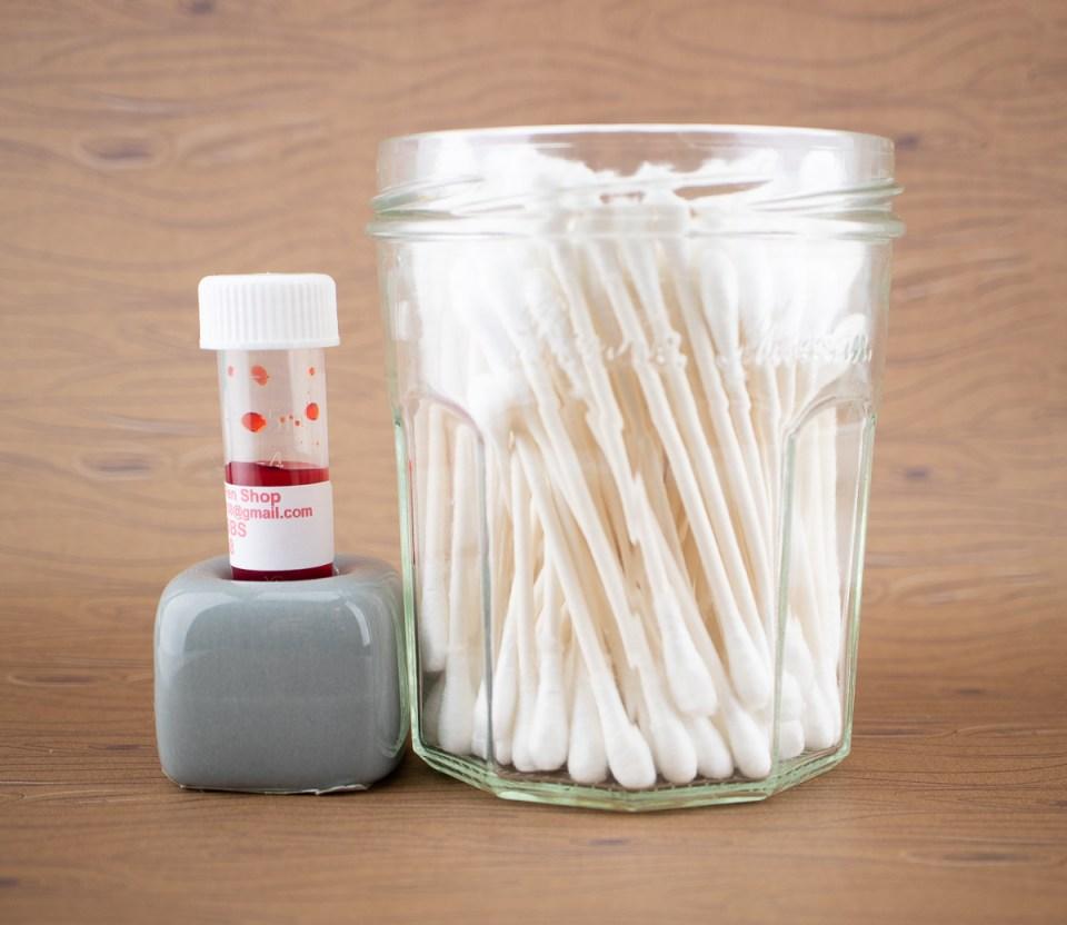 Daiso toothbrush holder turned ink sample holder