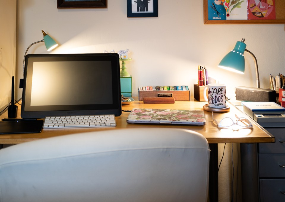 my desk set-up 2020