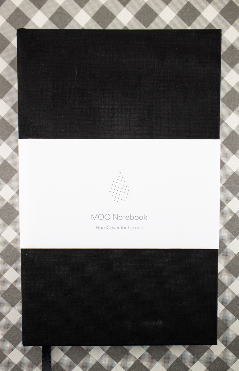 Moo Dotted Hardcover notebook
