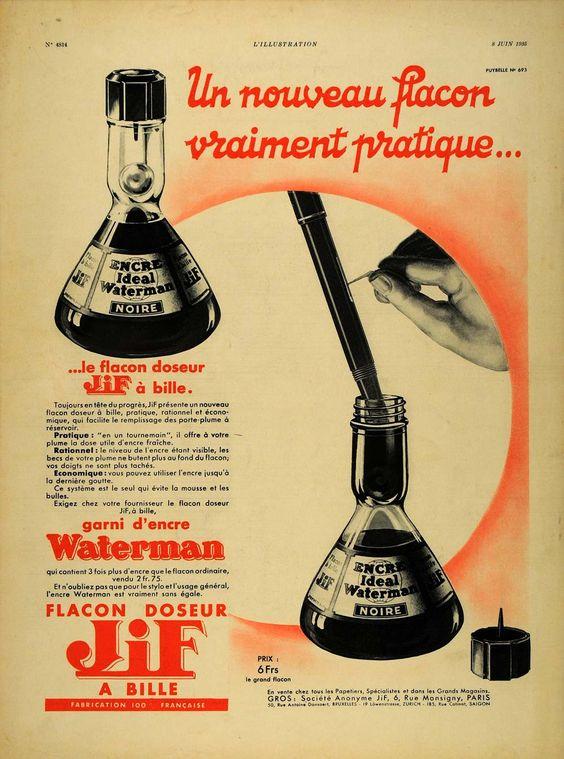 Waterman Ink ad