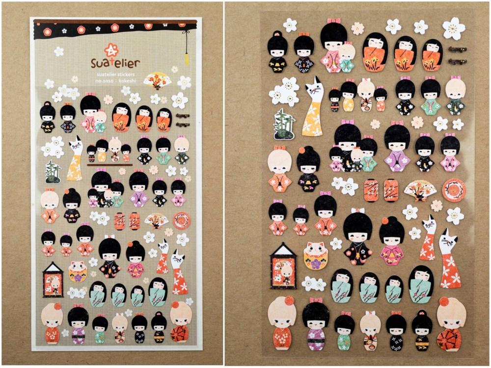 Sautelier Kokeshi Doll Stickers