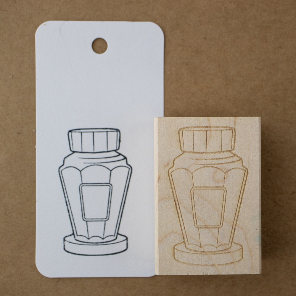 tall bottle stamp on Col-o-ring card