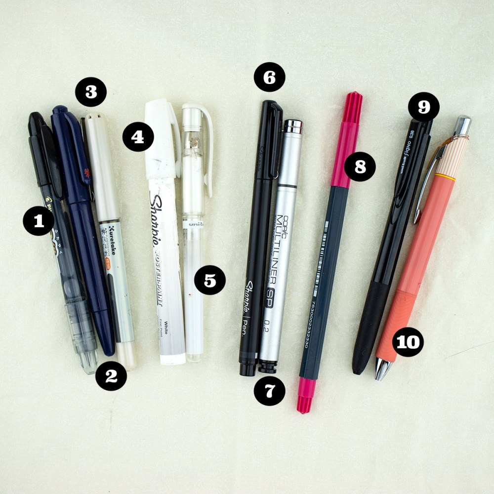 Top Ten Non-Refillable Pens