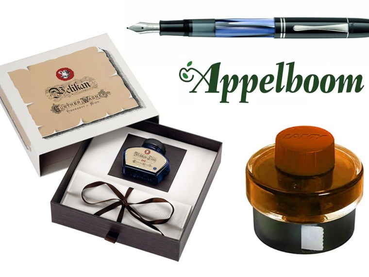 Giveaway #5: Appelboom Pelikan M101N Blue-Grey & Lamy Bronze