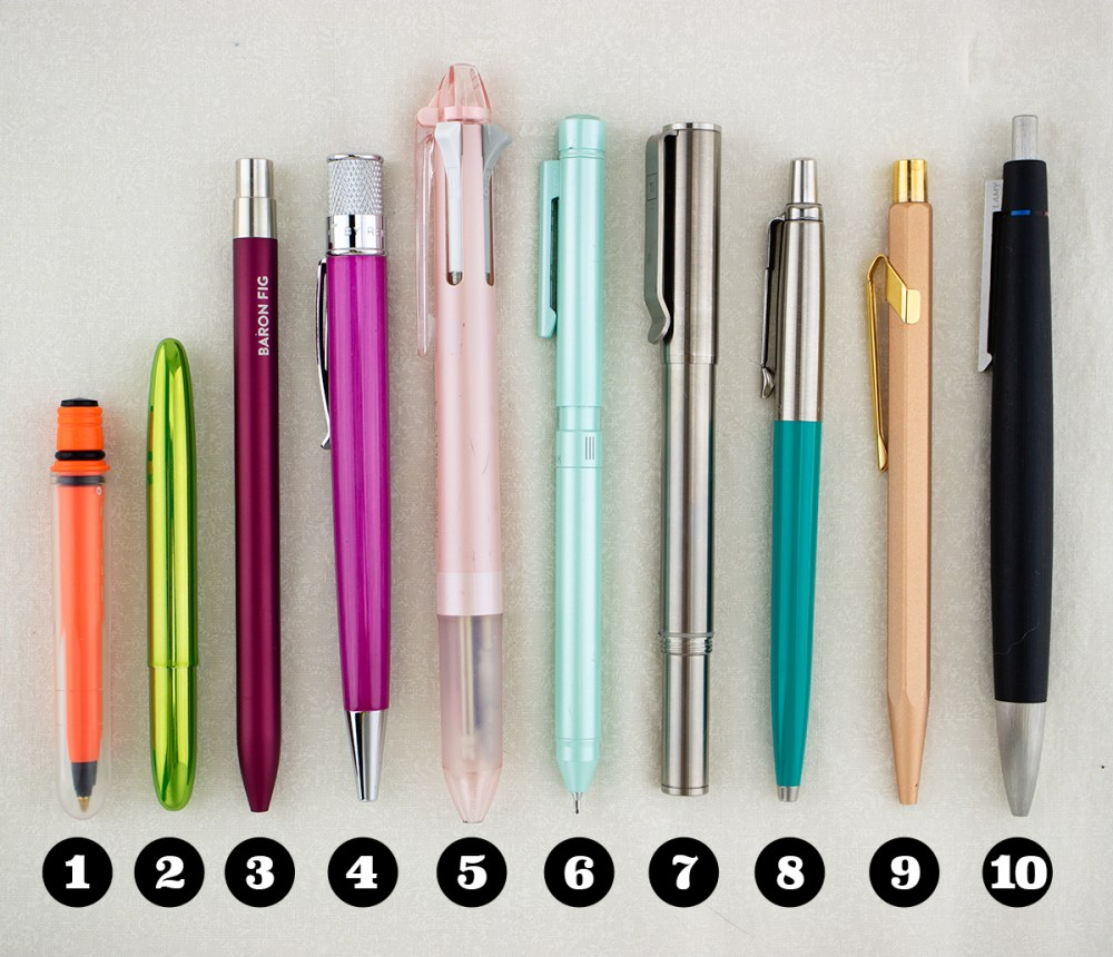 Top Ten Refillable Pens