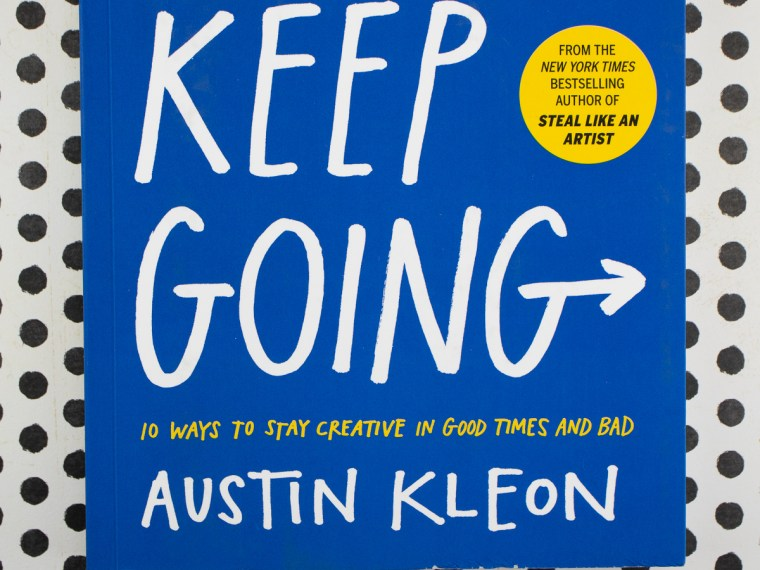 Book Review (and Giveaway): Keep Going by Austin Kleon