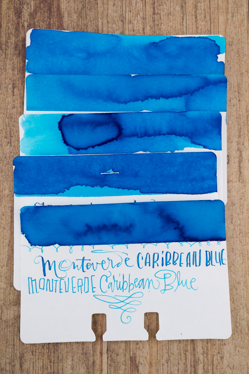 Sheaffer Ink Overview: Turquoise ink comparison swatches
