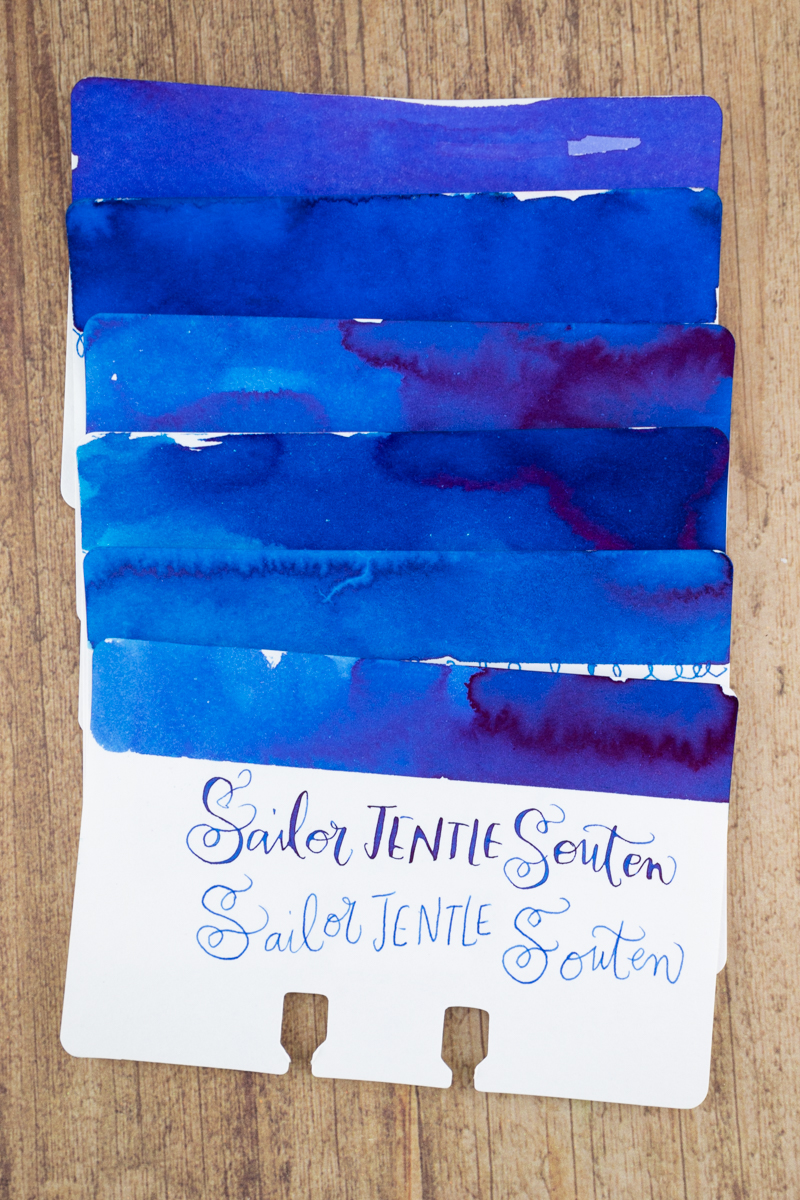 Sheaffer Ink Overview: Blue ink comparison swatches