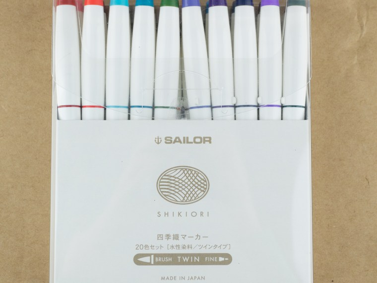 Brush Pen Review: Sailor Shikiori Brush Marker (Set of 20)