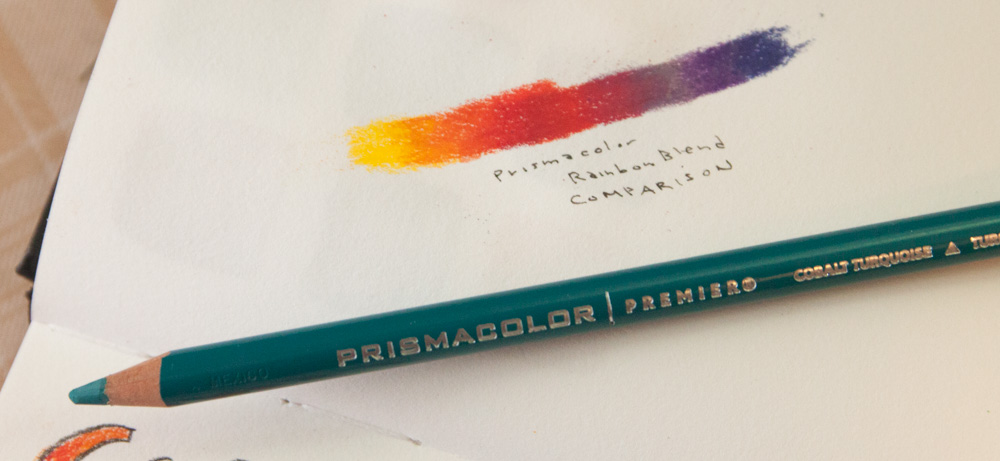 Prismacolor pencil blend comparison