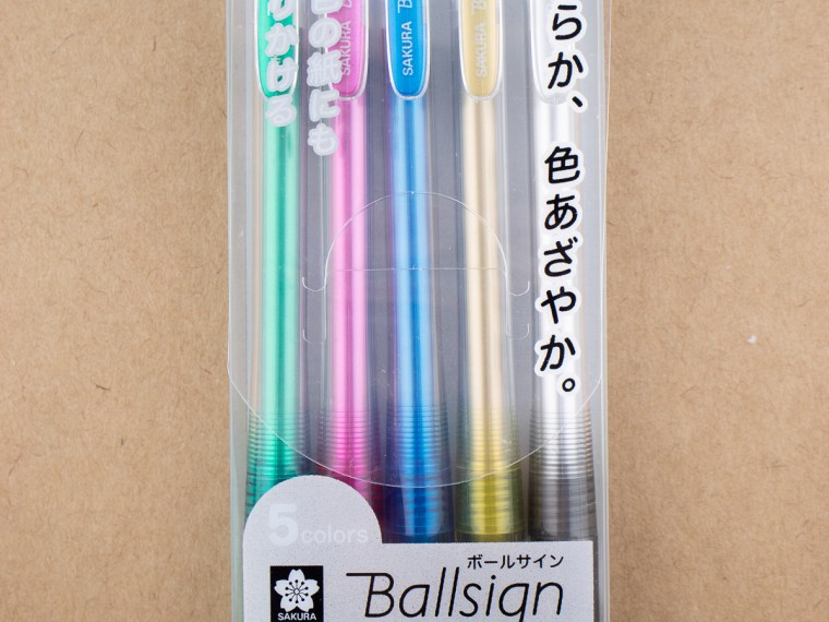Pen Review: Sakura Ballsign Knock Gel Pen (0.6 mm  5-Color Metallic Set)