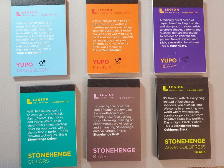 Paper Review: Stonehenge Legion Mini Artist Pad Sample Set, Part 2