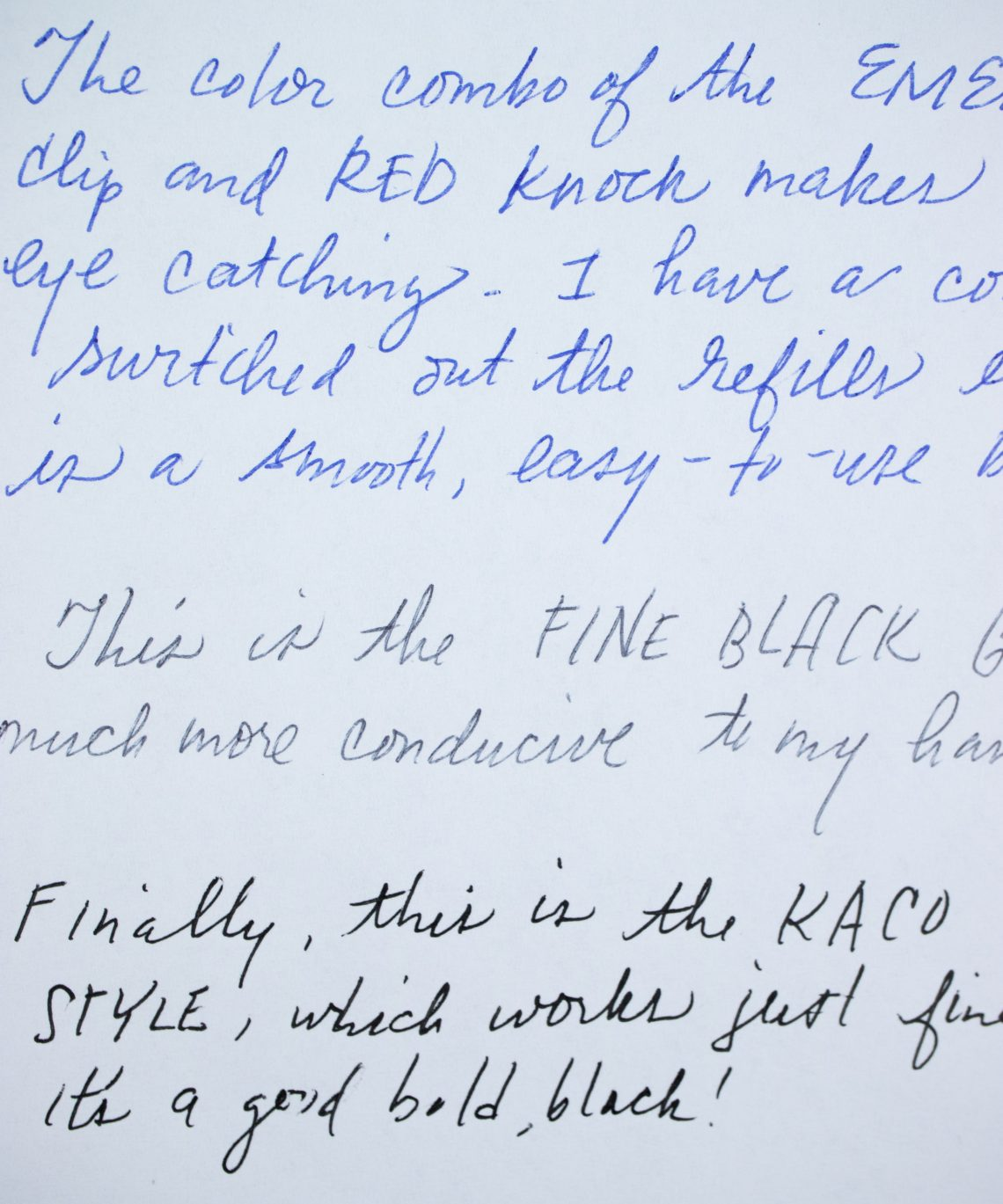 Caran d'ache 849 Claim Your Style writing sample