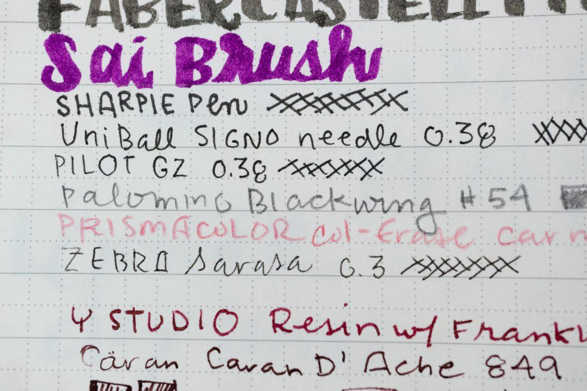 Lamy Notebook writing sample close-up