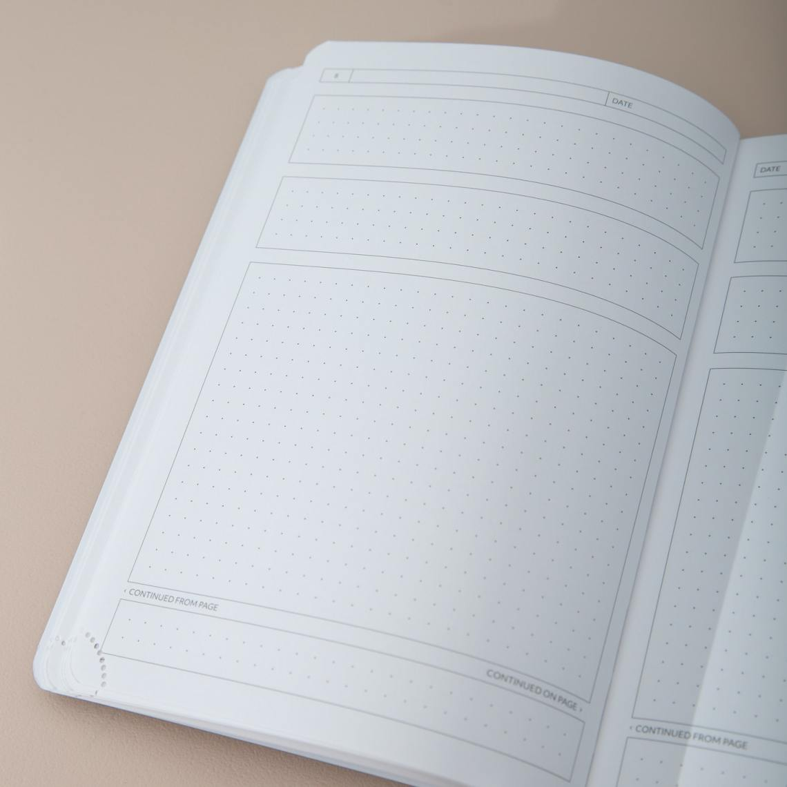 Theme System Journal interior spread