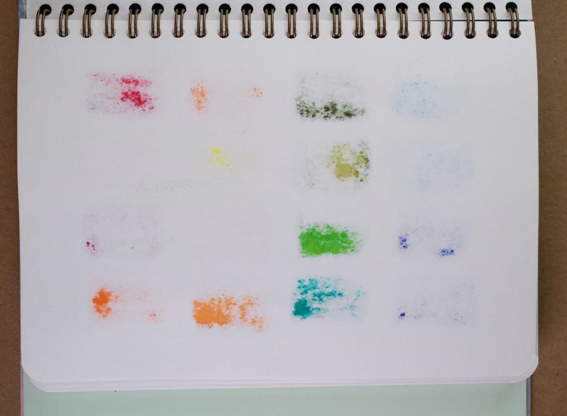 Mossery watercolor test, reverse side