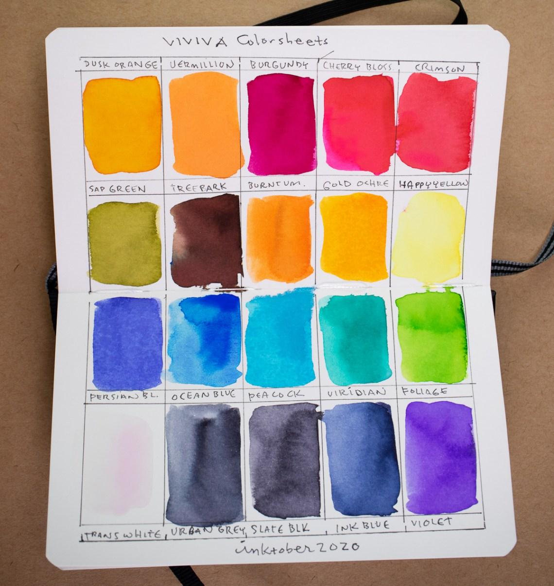 Leuchtturm 1917 watercolor test
