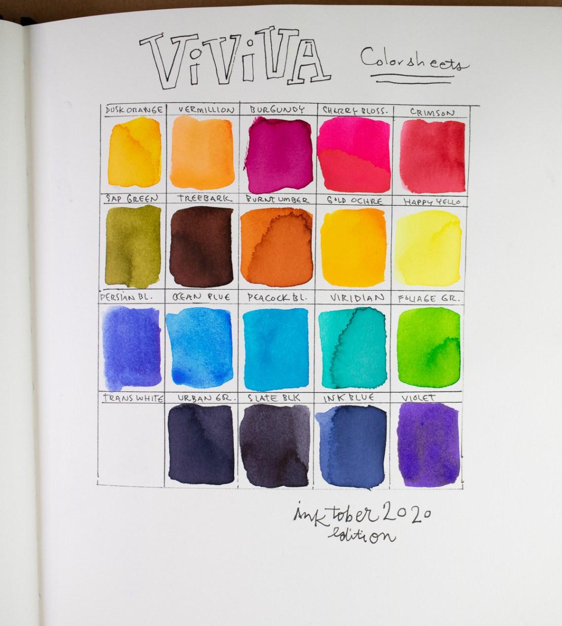 Viviva Colorsheets Inktober Edition