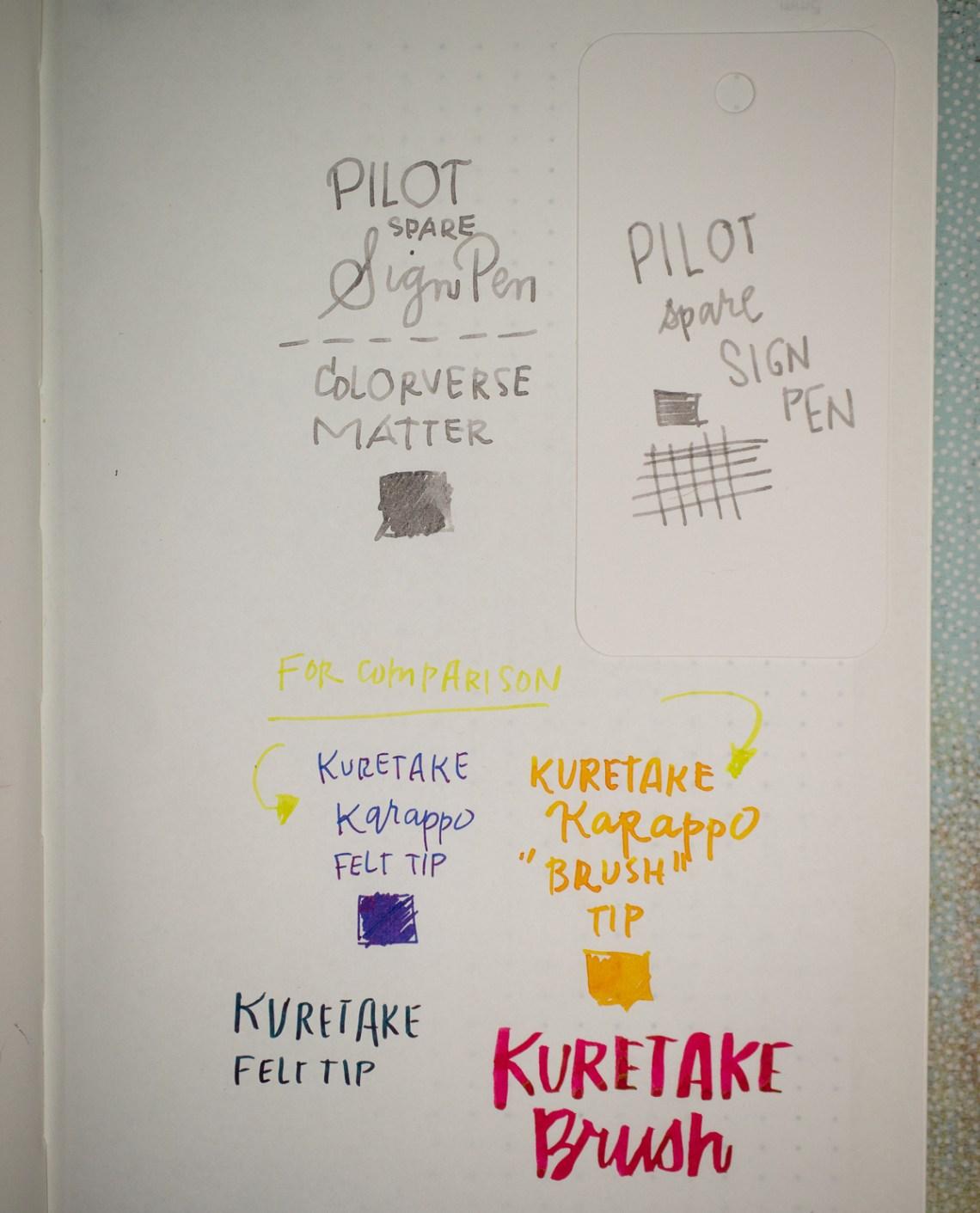 Pilot Spare Pen writing sample