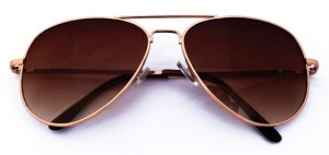Object elegant sunglasses isolated on the white