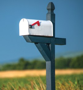 Attractive mailbox, but no address or name. Could an emergency vehicle find you?