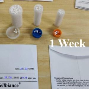 1 Week Homoeopathic Treatment