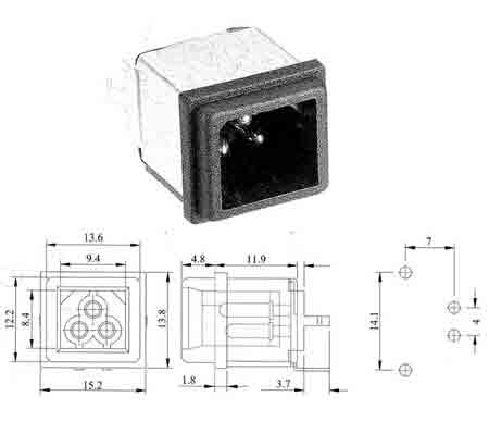Power connectors, Wafer, Wellco/Professional manufacturer