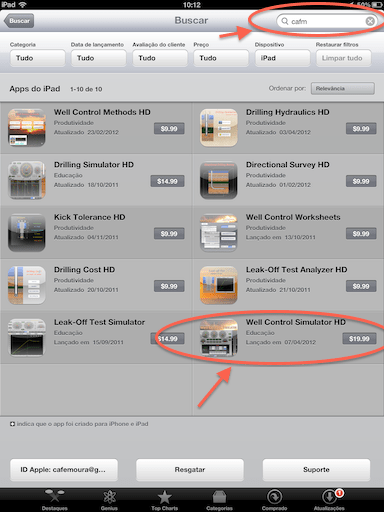 Oil & Gas Apps for iPad by Carlos Moura