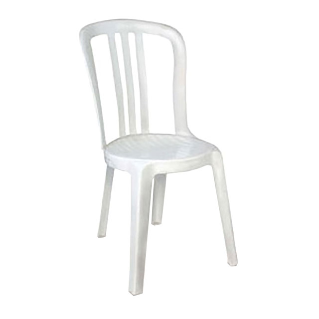 office chair without arms 7 piece patio dining set with swivel chairs plastic white for hire from well dressed tables london
