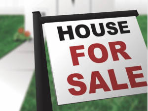 Selling a house sign
