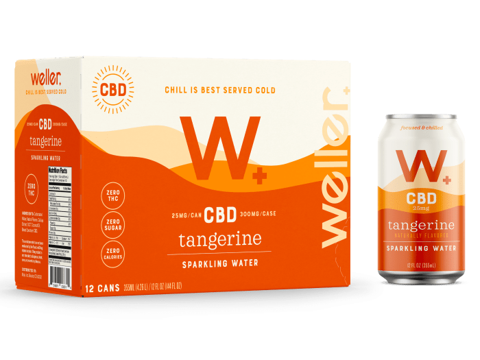 Buy Tangerine CBD Sparkling Water 12-pack