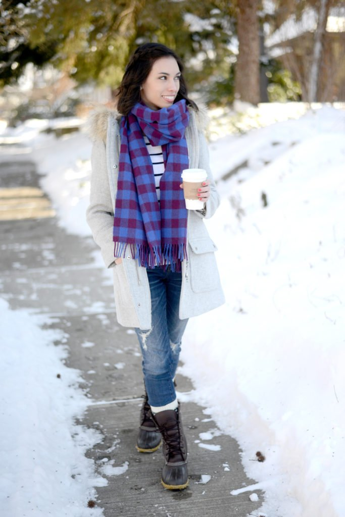 Wellesley & King | winter outfit, winter coat, bean boots, jcrew parka, jcrew coat, classic outfit, casual outfit  | Where to Find the Best Black Friday and Cyber Monday Deals featured by top Pittsburgh life and style blog, Wellesley & King