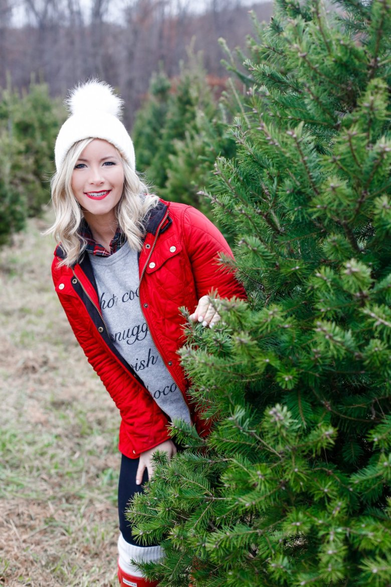 christmas-tree-shopping-blogger-collaboration-holiday-looks-3 | Corporate Holiday Party Outfits + Seasonal Looks for Every Occasion featured by top Pittsburgh fashion blog Wellesley & King