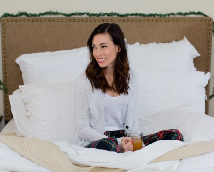 Holiday PJs styled by top Pittsburgh fashion blogger, Wellesley and King
