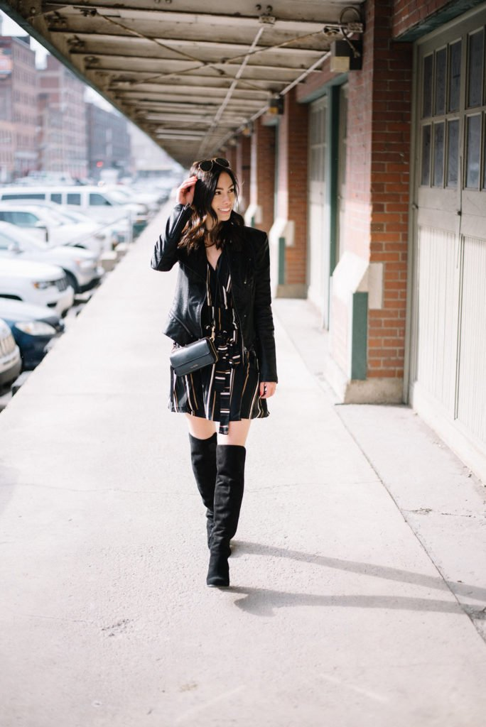 otk boots-petite leather jacket-wellesley and king-@wellesleynking - The 4 Best Classic Designer Handbags featured by top Pittsburgh fashion blog, Wellesley & King