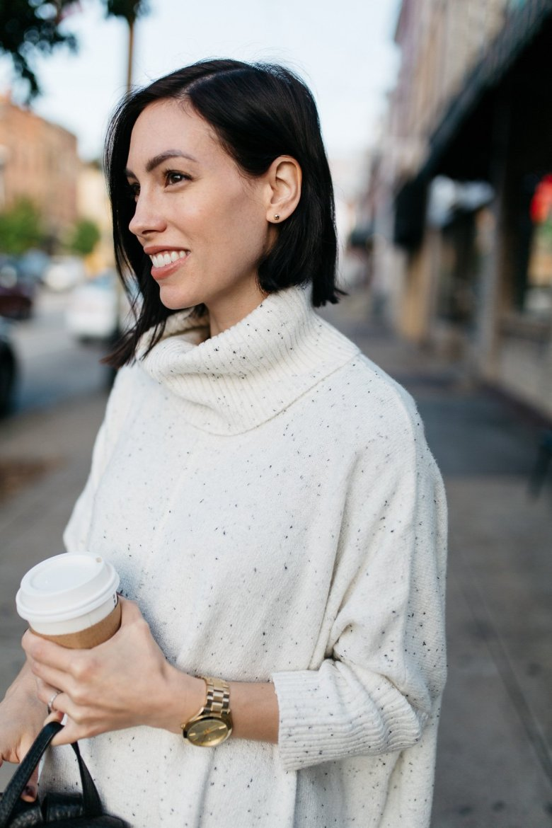 casual fall outfit-poncho turtleneck-wellesley and king
