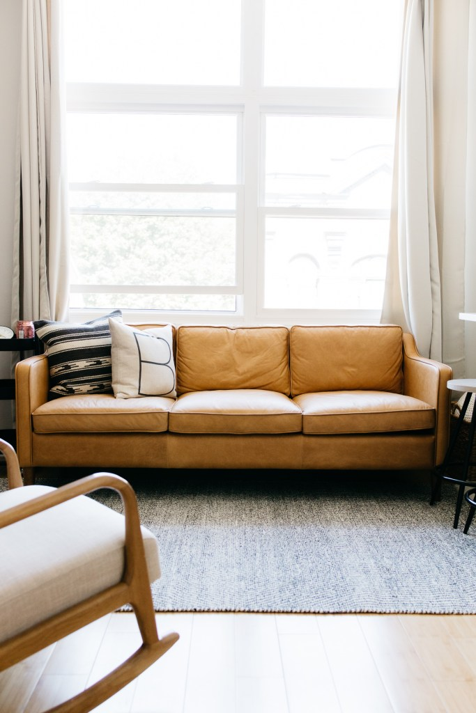 havenly interior design-west elm sofa-mid century living room