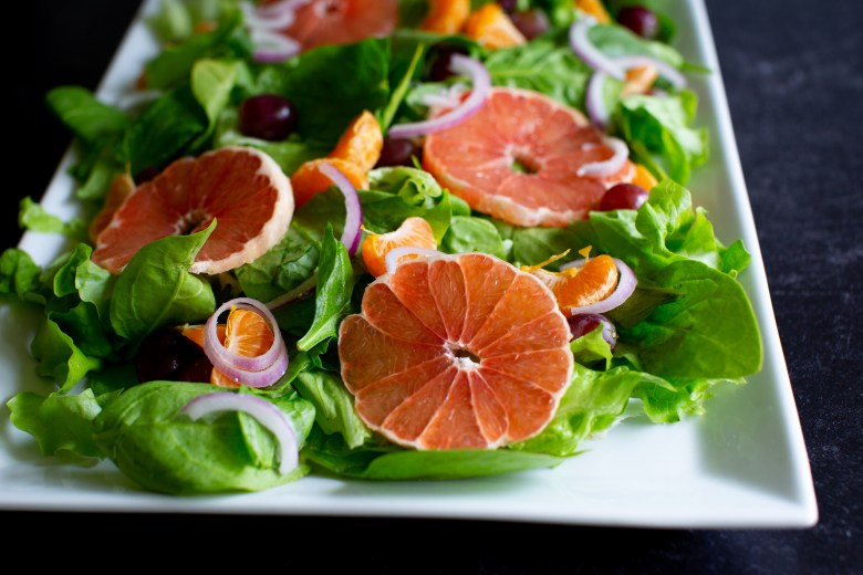 summer salad with homemade dressing-wellesley and king-pittsburgh blogger