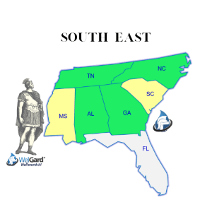 South East Coverage Map - WelGard