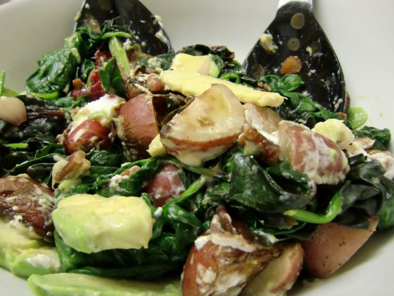 Spinach & Chard Salad with Baby Reds