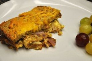 Healthy Recipe - Sausage and Onion Strata