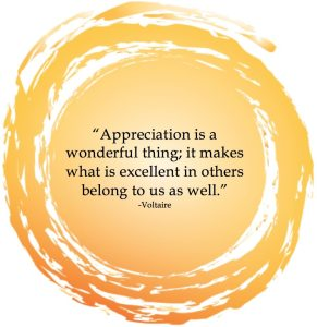 Inspiration- Appreciating Others