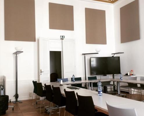 Panneau acoustique mur marron